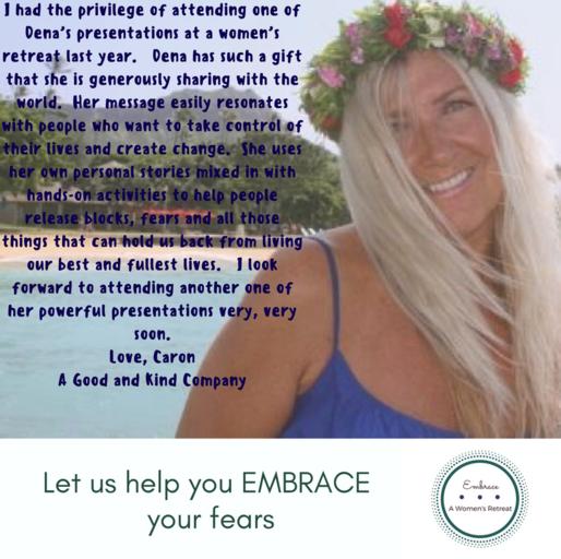 Caron's testimonial about Embrace - A Women's Retreat