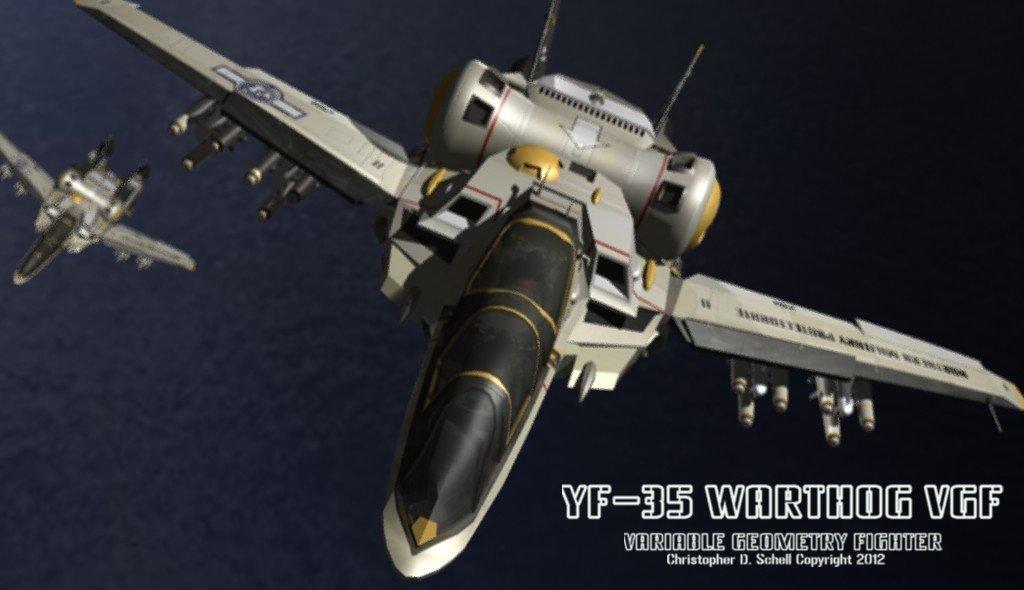 YF-35 Warthog Flight by Theschell