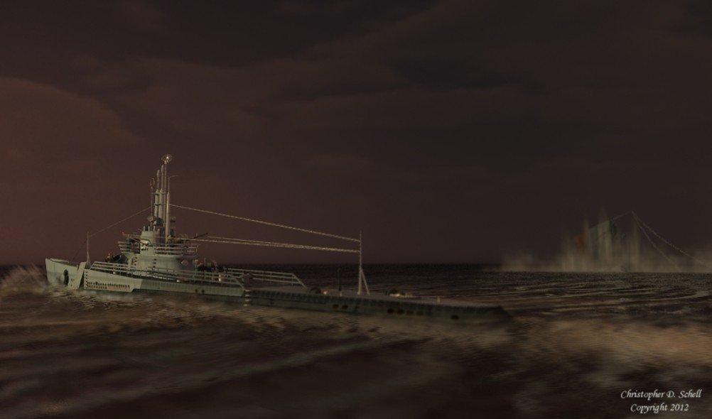 USS Trigger by Theschell