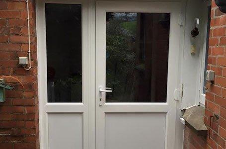 tinted glass door
