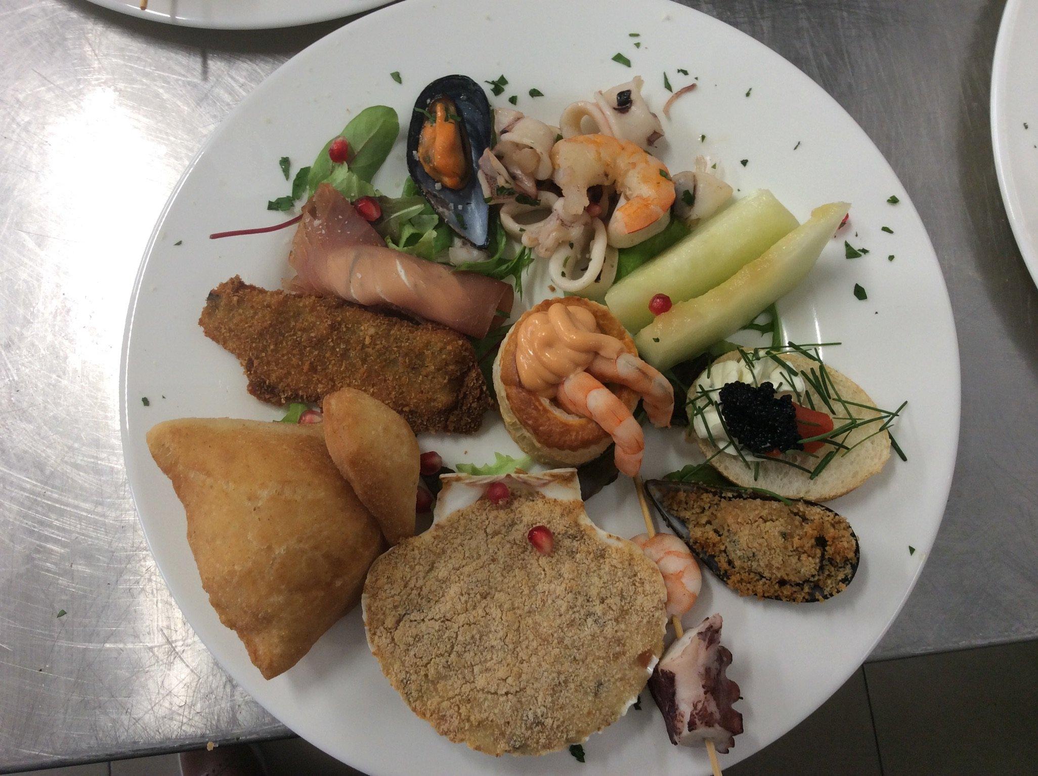 Piatto di mare con frittura