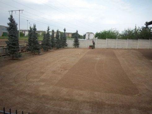 Preparazione terreno per la semina del prato