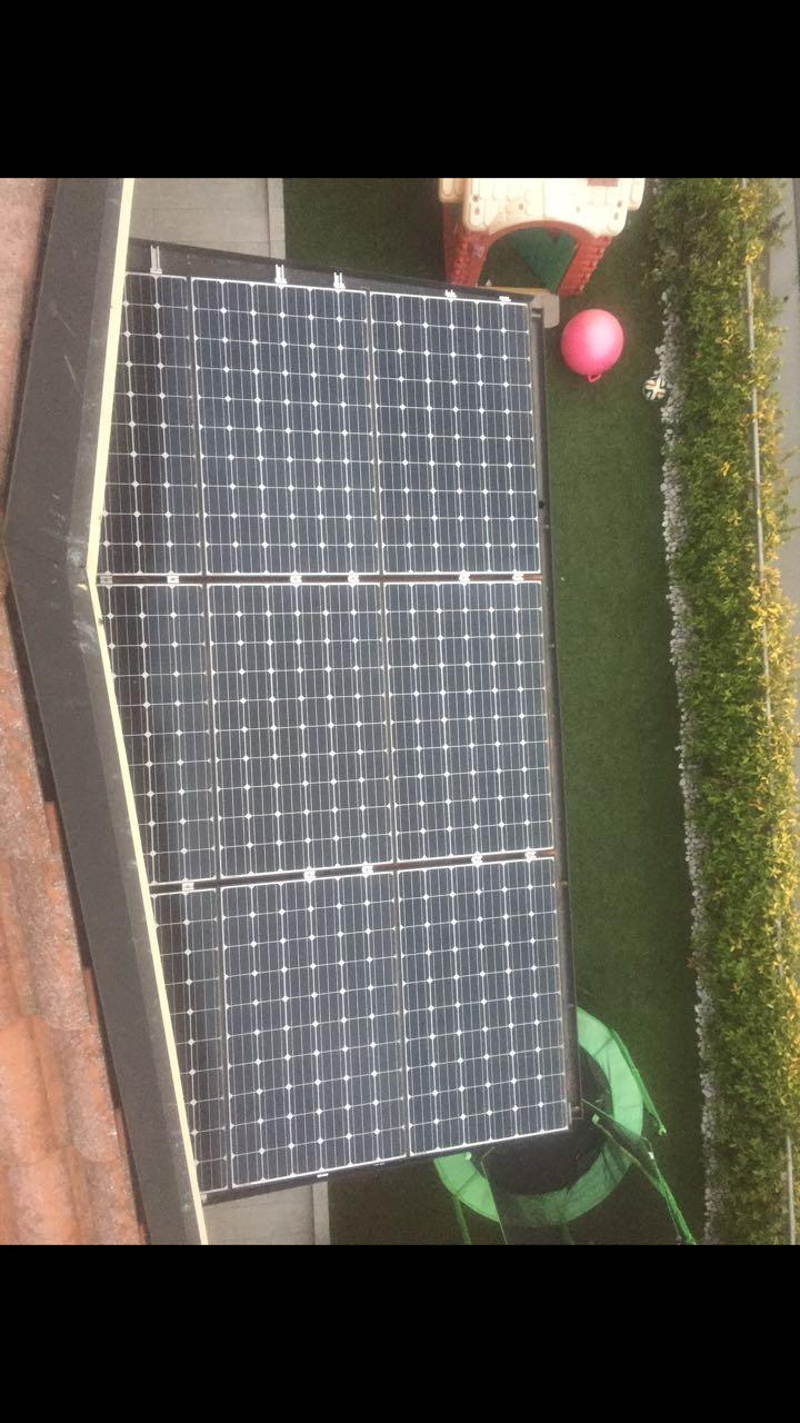 sistema fotovoltaico in giardino