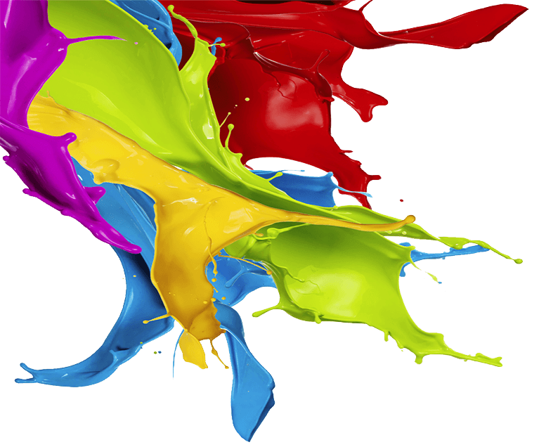 multi colour paint splash