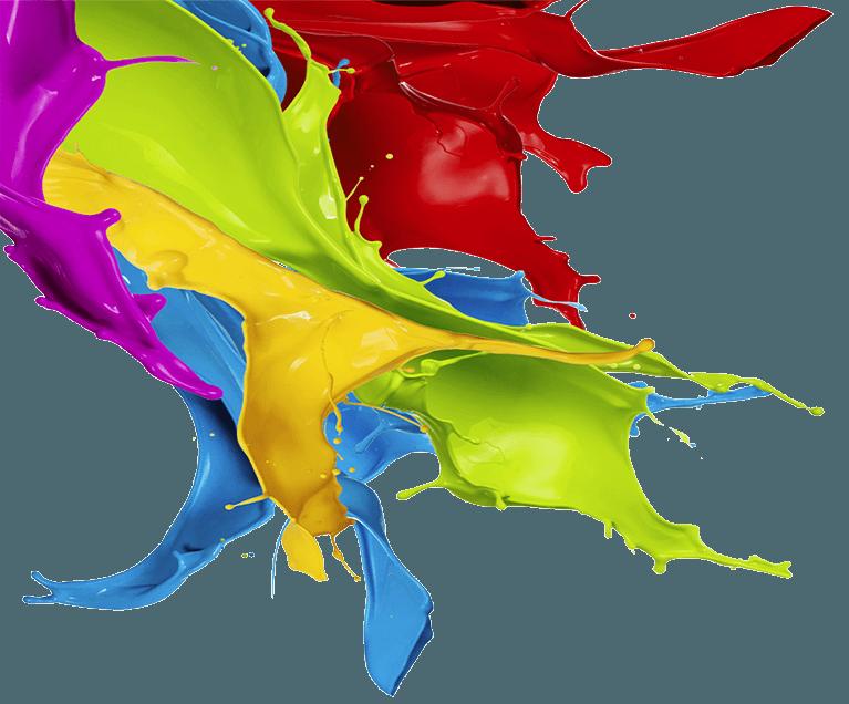 multi colour paint splash