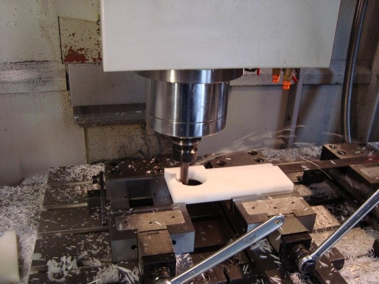 working on a milling machine