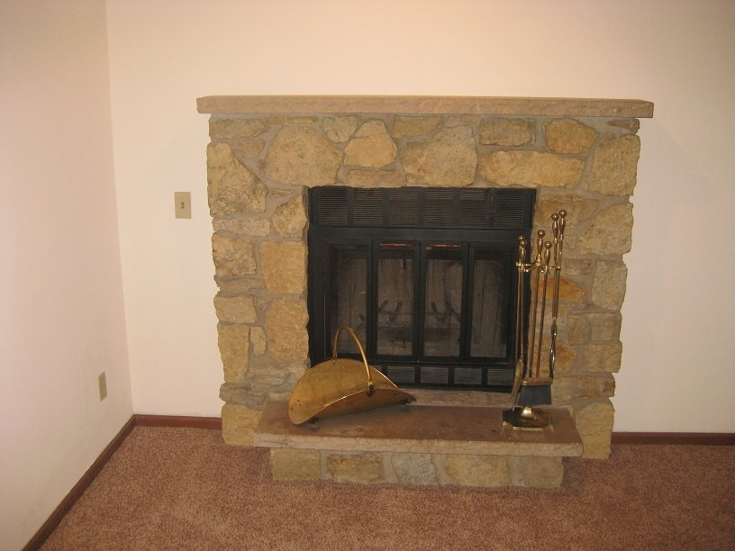 Living Room / Fireplace / Carpet