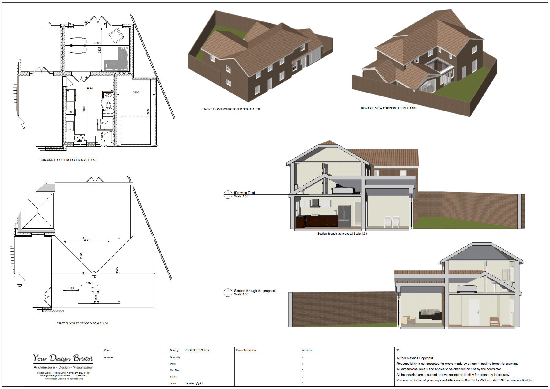 portfolio architectural design and visualisation work rear and garage extension