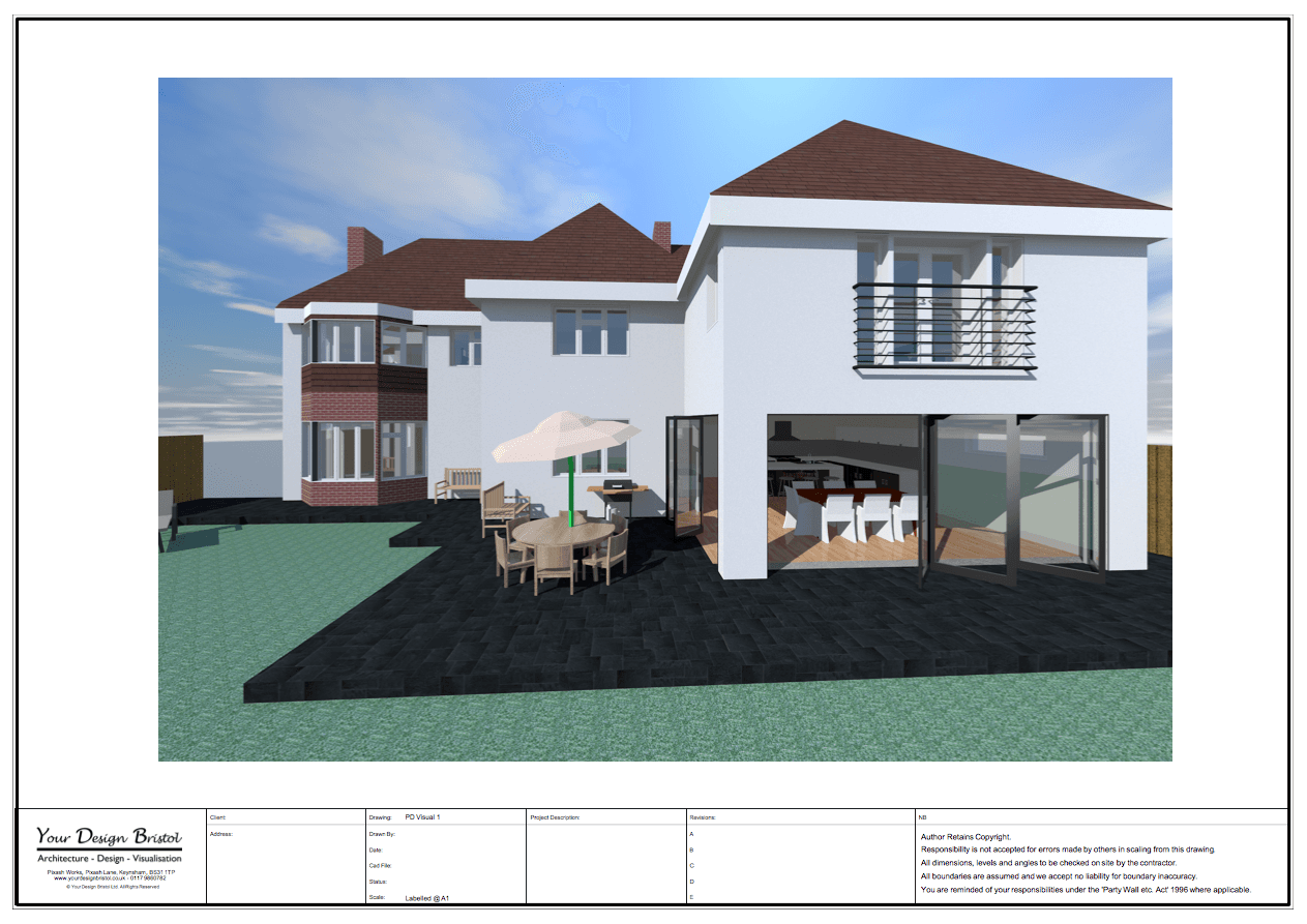 Two Storey Extension Visualisation Design