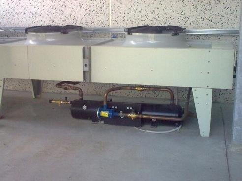 particolare-condensatore con ricevitore di liquido