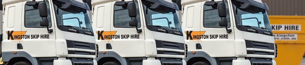 Our fleet used for skip bin hire services in Melbourne