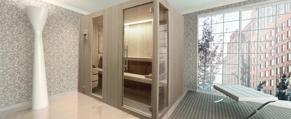 Sauna-Luxory-costruita-in-legno-di-Hemlok-canadese