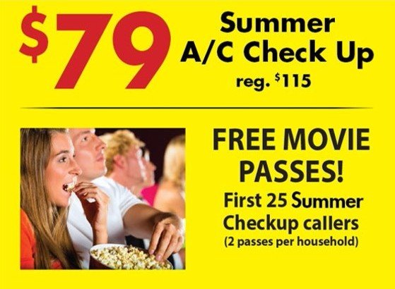 Dscount with Lennox system purchase or FREE tickets to first 25 checkup callers