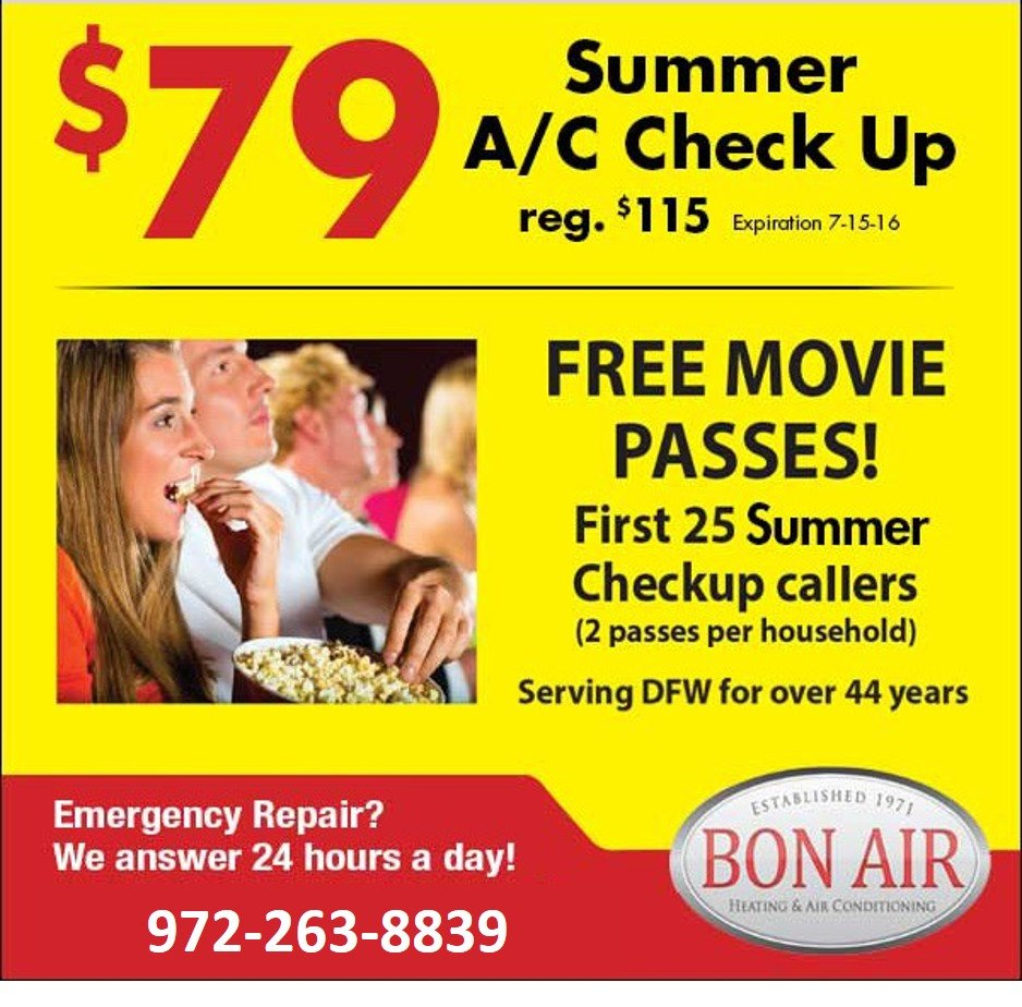 Get Summer A/C Check Up with Bon Air