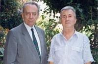 Prof. Renato Colantonio, a destra, insieme al famoso ortopedico scoliosologo Dott. Paolo Sibilla in una foto di diversi anni fa