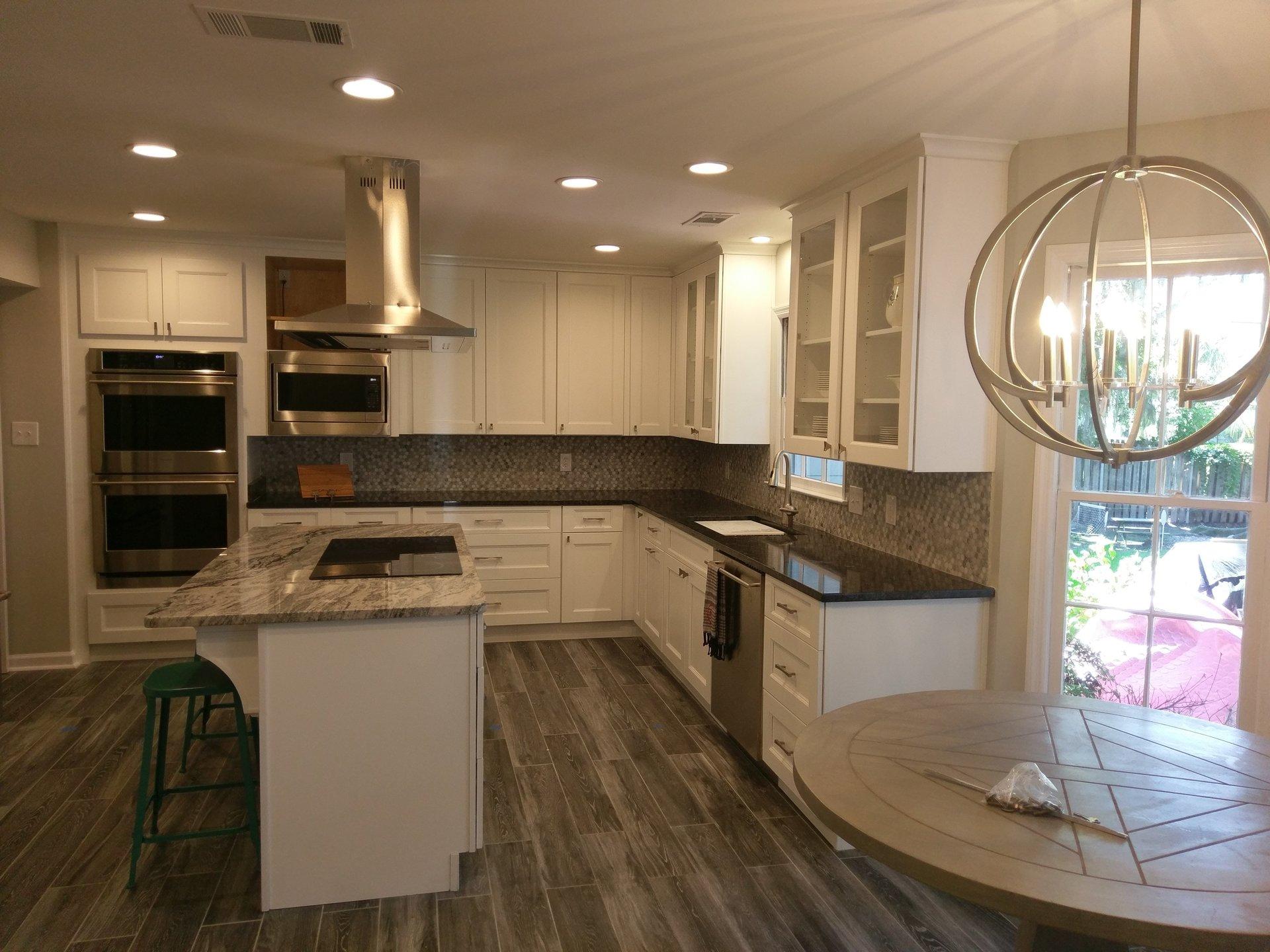 Hardwood Flooring With White Cabinets In Savannah GA