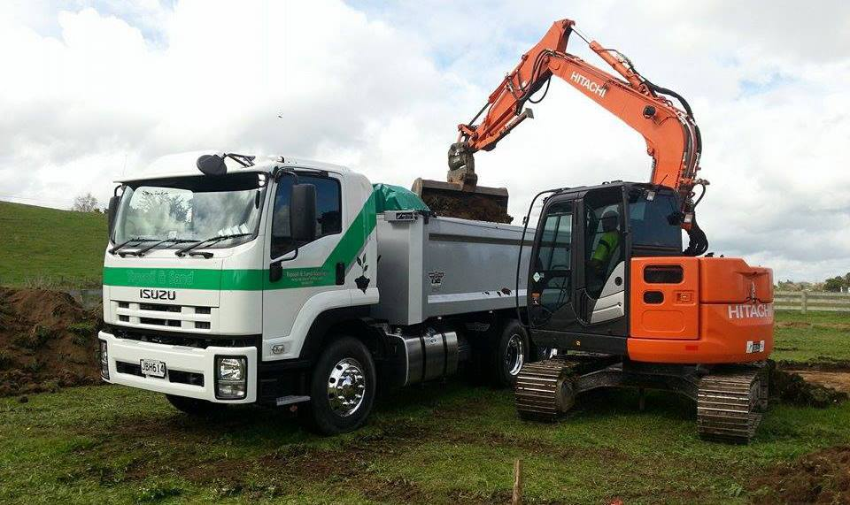 Trucks used for top soil moving machinery in Hamilton