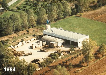 Vista aerea dell'officina nel 1984