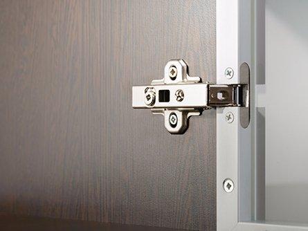 View of door hinges