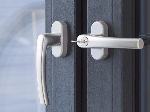 View of door handles