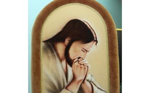 paramenti funebri gesù in preghiera