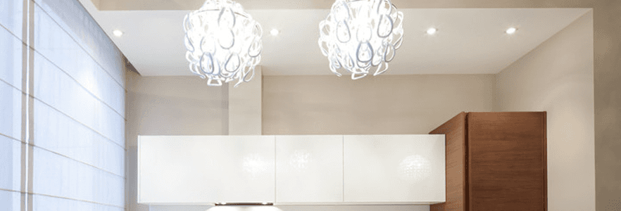 Large glass pendant lamps