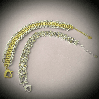 Bracciali bicolore in oro 18 kt