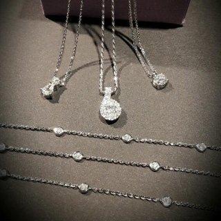 Collane punti luce oro bianco e diamanti