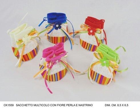 sacchetto colorato con fiore