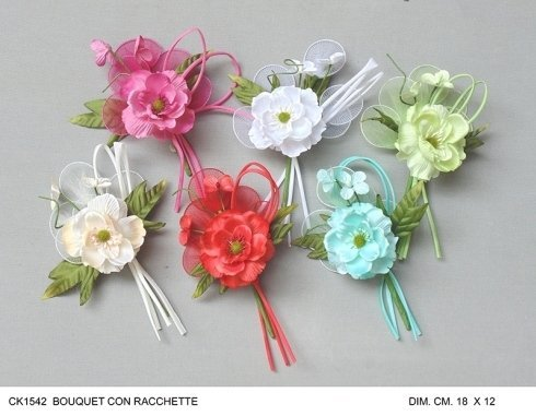 fiori artificiali colorati
