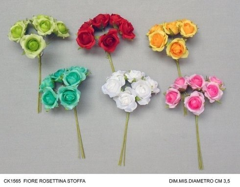 fiore rosettina in stoffa