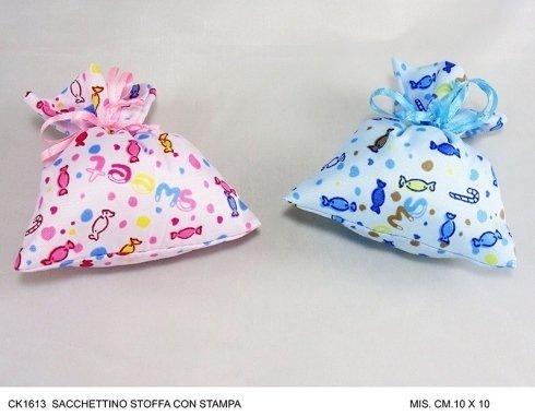 sacchetto stoffa con stampa