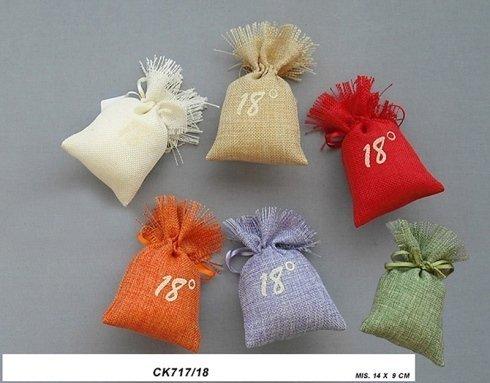 sacchetti iuta colorati