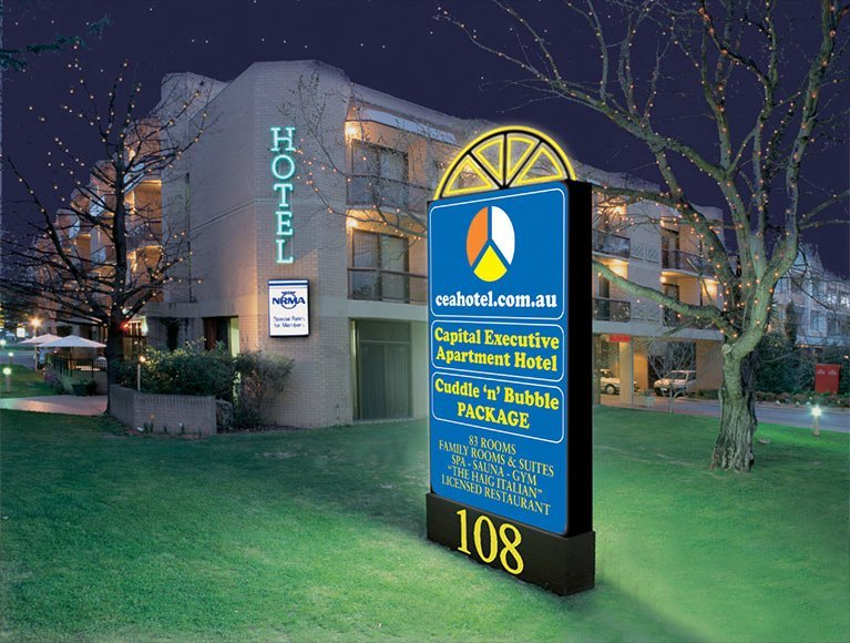 Hotel for our Canberra accommodation