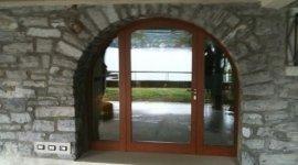 porte di ingresso in vetro, vetrate, finestre