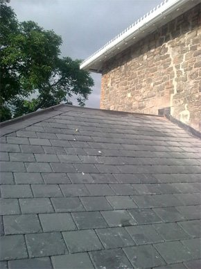 Grey slated tiles