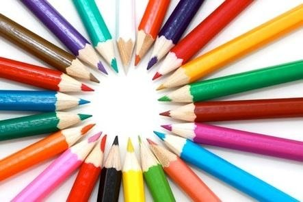 delle matite colorate