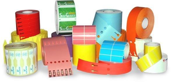 rotoli per etichette di diversi colori