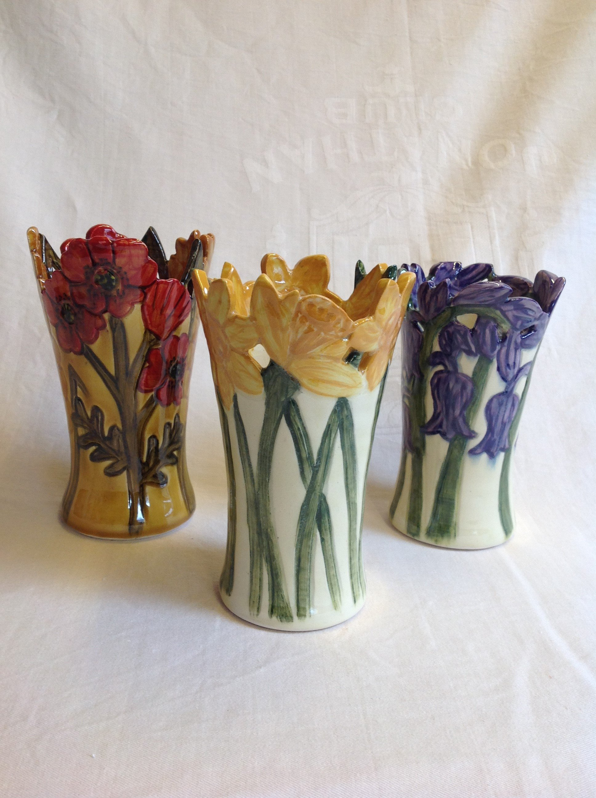 flower themed flower vases