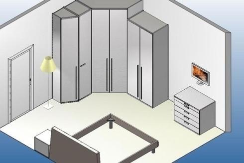 piantina di una camera da letto