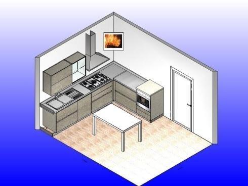 struttura di una cucina a colori
