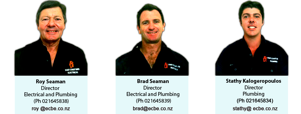Team at East Coast Bays Plumbing and Drainage and Electrical Services