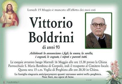 Necrologio Vittorio Boldrini