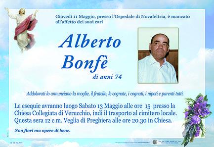 Necrologio Alberto Bonfè