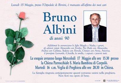 Necrologio Bruno Albini