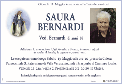 Necrologio Saura Bernardi