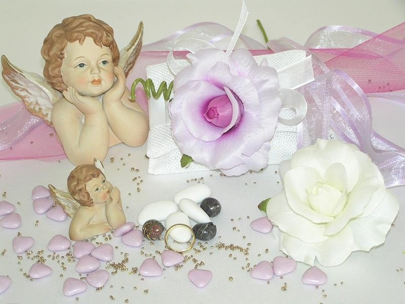 Rose artificiali per bomboniere