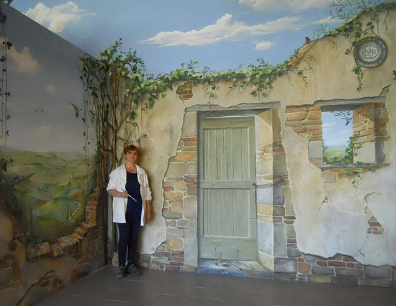 Decorazioni su parete, tromp oeil