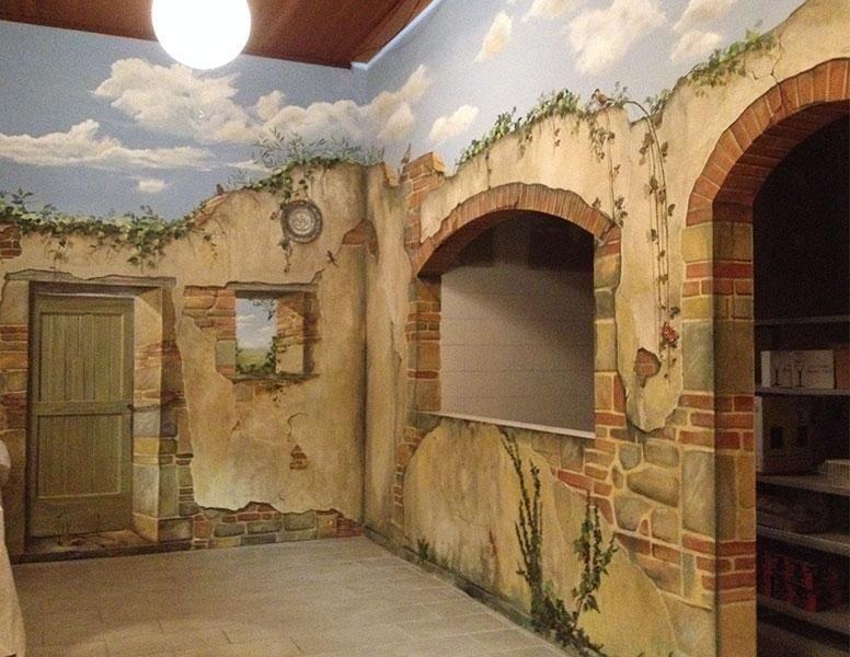 Tromp oeil, decori su parete