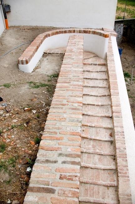garden access stairway after renovation work